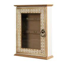 wooden moroccan key box holder 62655