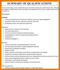 Summary Qualifications Resume Examples Examples Of Resumes With
