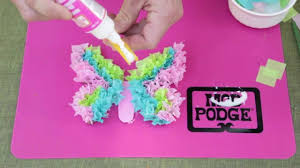 Kids Craft Kids Craft Tissue Paper Butterflies With Mod Podge Washout Youtube