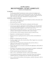 Receptionist Job Resume Receptionist Job Description Resume EssayscopeCom 26