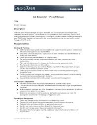 Project Manager Profile Sample Free Resumes Tips