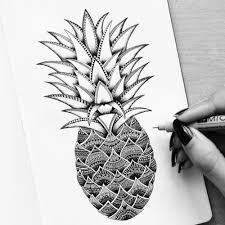 pineapple drawing. pineapple drawing