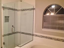 standard 3 8 clear glass shower enclosure with 90 degree notch panel using u