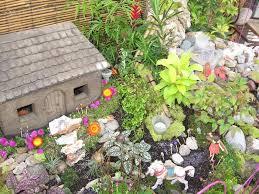 a temporary fairy garden