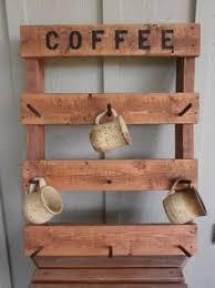 reclaimed wood mug rack urban rustic. Coffee Mug Rack, Rustic Pallet Wood Cup Holder, Rack Reclaimed Urban L