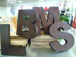 large letters for wall large metal wall letters can cardboard block letters craft and spray paint large black wooden wall letters