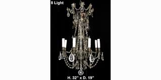 ch01 antique rock smokey rock and lead crystal 8l chandelier