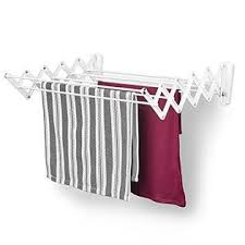 dryer that folds clothes. Polder Retractable Folding Clothes Dryer, Wall Mountable, 7 Rods Expand And Contract For Air Drying, Includes 2 Sets Of Mounting Brack Dryer That Folds W