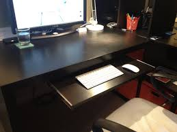 image of desk with keyboard tray ideas