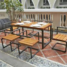 american casual retro dinette wood household furniture outdoor tables and chairs restaurant tables and chairs combination