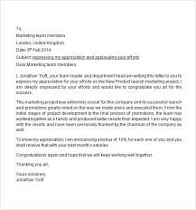Letter Of Recognition Examples Sample Appreciation Letter Free Documents Download Word