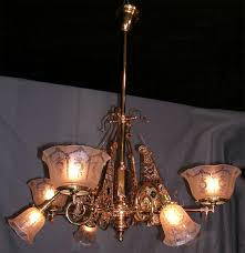 eastlake aesthetic movement eight arm chandelier circa 1890 victorian hanging light gas electric combination four up four down the up gas arms are
