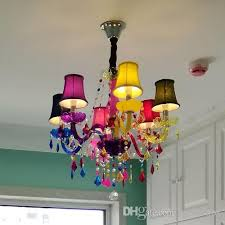 colorful kid s light cloth s coffee restaurant candle chandelier princess room children girl led color crystal chandeliers chandeliers on outdoor