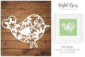 Bird Paper Cut Design Graphic By Digital Gems Creative Fabrica