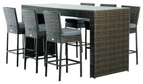bar height dining table set. Outdoor Bar Height Table And Chairs Modern Furniture Chair Dining Set