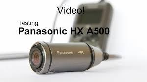 Panasonic HX A500 - test - YouTube