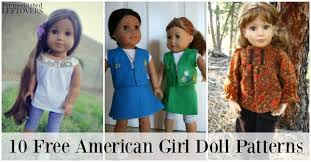 American Girl Clothes Patterns Amazing 48 American Girl Doll Clothes Free Sewing Patterns