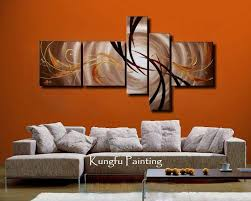 100 hand painted unframed abstract 5 panel canvas art living room with regard to wall art
