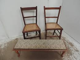 edwardian bedroom chairs. lot 16 - two edwardian cane seat bedroom chairs \u0026 long upholstered top hearth stool