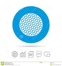 Golf Ball Sign Icon Sport Symbol Stock Vector