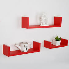 Wedge Floating Shelves Best DIY Set Of 32 U Shaped Floating Tray Wall Wedge Shelves DVD Book