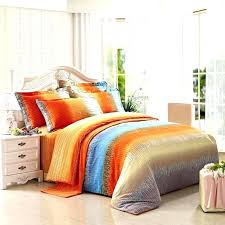 orange and gray bedding orange and blue bedding funky bright orange grey and aqua blue ticking