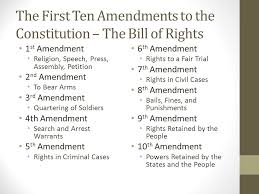 bill of rights ppt the bill of rights 2nd and 4th amendments ppt download