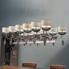 large rectangular venetian glass pendant light