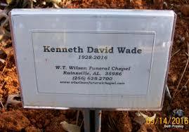Kenneth David Wade, Sr (1928-2016) - Find A Grave Memorial