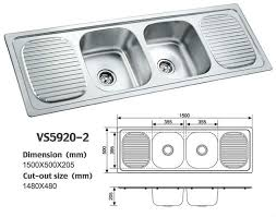 nice kitchen sink double bowl stainless steel design700550 double bowl kitchen sink with drainboard