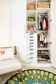 Organized Nursery Closet with Day of the Week Drawers - Project Nursery
