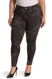 Democracy Snake Skin Print Ab Technology Side Zip Skinny Jeans Plus Size Nordstrom Rack