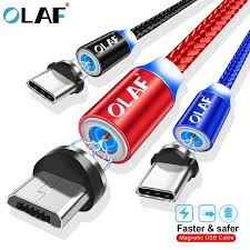 Gray <b>OLAF Magnetic Cable</b> Micro-USB Fast Charging Adapter with ...