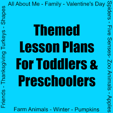 lesson plans for toddlers preschoolers
