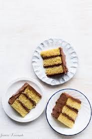 Vanilla Cake And Milk Chocolate Frosting Kitchen Heals Soul