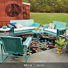 Fresh Retro Outdoor Furniture Balcony Design Ideas