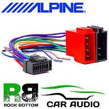 alpine cda 9847r car radio stereo 16 pin wiring harness loom iso Alpine CDA- 9815 at Alpine Cda 9847 Wiring Harness