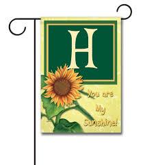 you are my sunshine monogram garden