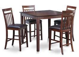 Square Kitchen Table For 4 East West 5 Pc Square Pub Counter Height Table Dinette Set Size