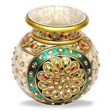 Pot Decoration Designs Flower Pot Designs Latest Pot DesignsWedding Designer Pots Kundan 55