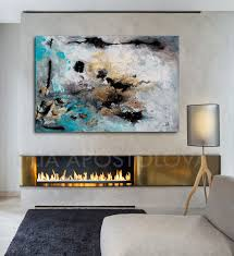 ingenious inspiration extra large wall art 48inch turquoise gold black abstract print wallart modernart modernabstract artwork