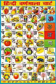 Varnmala In Hindi Chart Oshi Hindi Varnamala Chart Paper Poster 30 48x45 72cm
