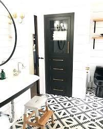 bathroom mirrors black and white cement tiles sink farmhouse around mirror kohler vanity reviews ce