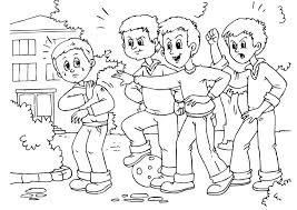 Small Picture Bullying Coloring Pages Coloring Pages Ideas Reviews