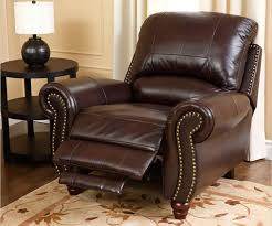 comfortable living room chairs. this luxurious leather recliner features nail head trim, thick cushioning on the seat and back comfortable living room chairs t
