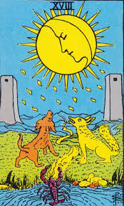 For women, this card can be an omen of deep awareness. The Moon Major Arcana Tarot Card Meaning According To Waite Ouspensky Crowley And Papus Tarot Astrology