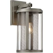 minka lavery 71202 664 radian outdoor wall light painted brushed nickel