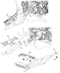 2009 dodge caliber exhaust system thumbnail 1