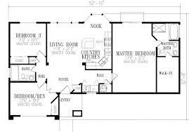 3 Bedroom Open Floor House Plans Impressive Design