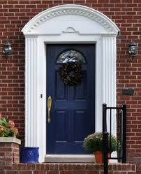 home curb appeal blue front exterior door photo